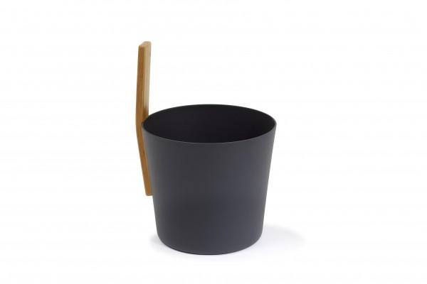 KOLO Saunakübel Kiulu 3 schwarz mit Tragegriff