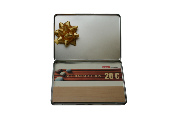 Geschenkbox mit 20€ Gutschein und Duftholz