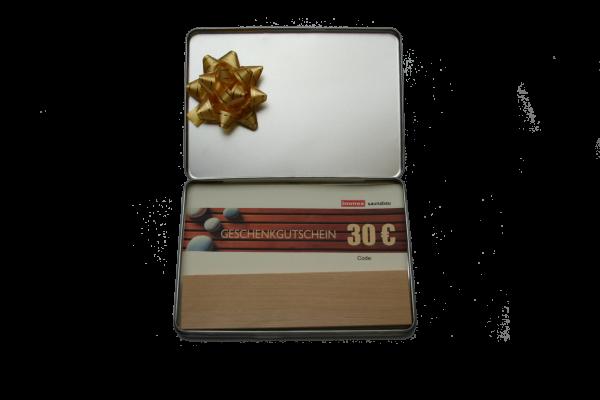 Geschenkbox mit 30€ Gutschein und Duftholz